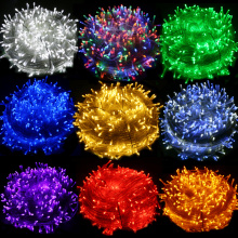 Led Christmas Lights Outdoor 100M 50M 30M 20M 10M Led Strings Light Decoration Party Holiday Wedding Garden Waterproof Garland