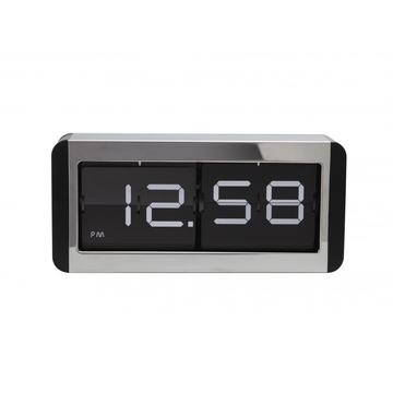 High Metal Box Flip Table Clock