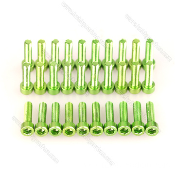 Anodized aluminum hex socket screw