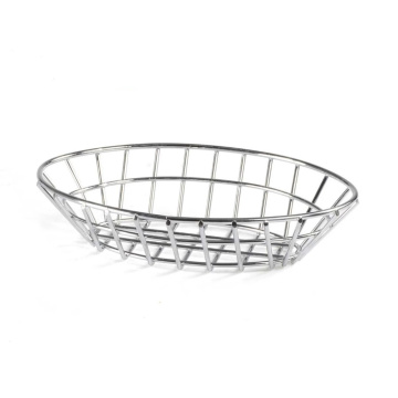 Stainless Steel Wire Kitchen Oval Bread Basket set