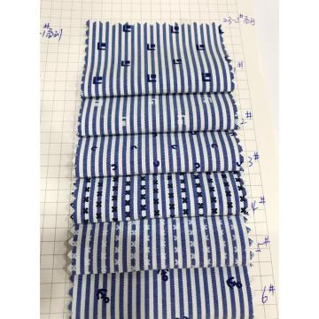 T/C Woven Yarn-dyed Stripe Printed Fabric For Processing