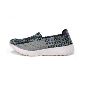Popular Type Grey Woven Hollow Work Shoes