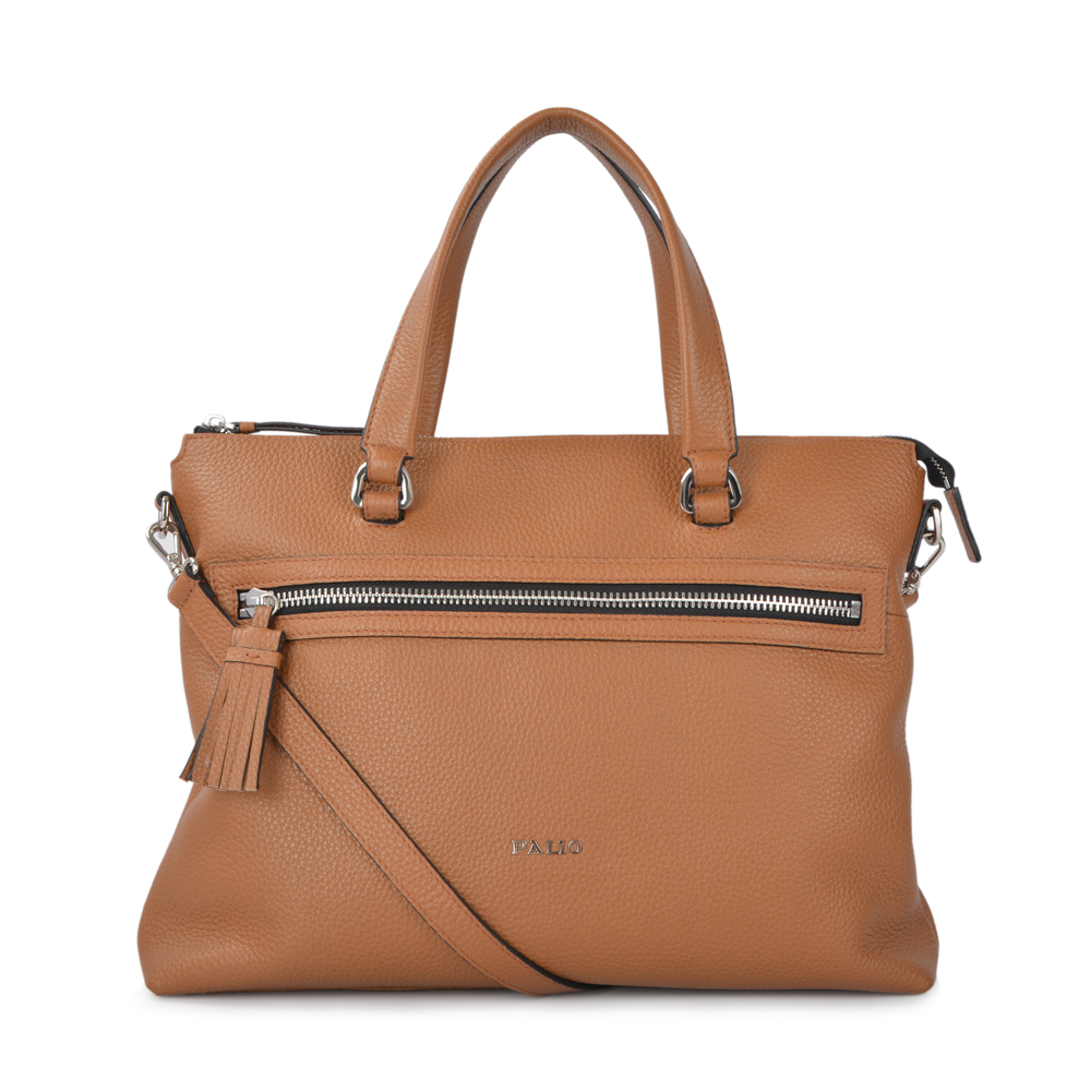 Leather Men And Women Business Tote Bag Luxury Leather Briefcase