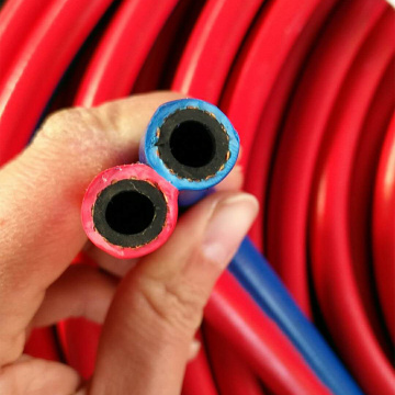Plastics flexible twin welded air gas hose