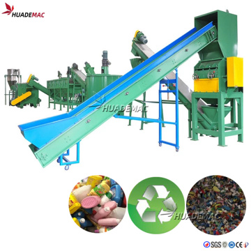 PP PE Waste Bottles Crush and Washing Plant