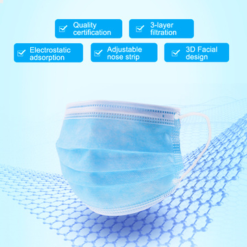 Factory directly Ship Disposable Blue White Face Mask