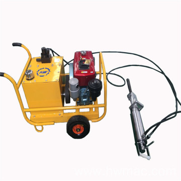 Hydraulic diesel power  rock splitter machine