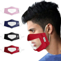 visible Mouth pvc cover Face Mask for surdomute
