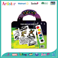 TURTLES coloring carry art set