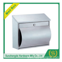 SMB-015SS Competitive Price Cast Aluminum Mailbox/Free Standing Mailbox With 2 Doors