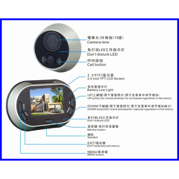 Security smart digital peephole viewer