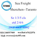 Shenzhen Port Sea Freight Shipping To Taranto