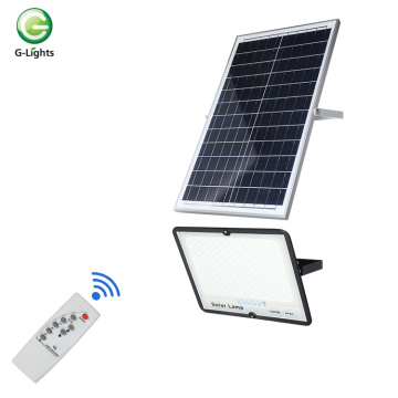 Remote control outdoor 50-300w led solar flood light