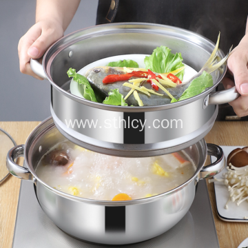 Stainless Steel Multi-use Combination Cover Soup Pot
