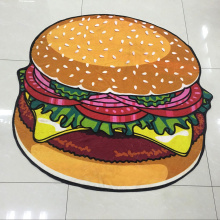 cheap price hamburger multipurpose roundie beach towel
