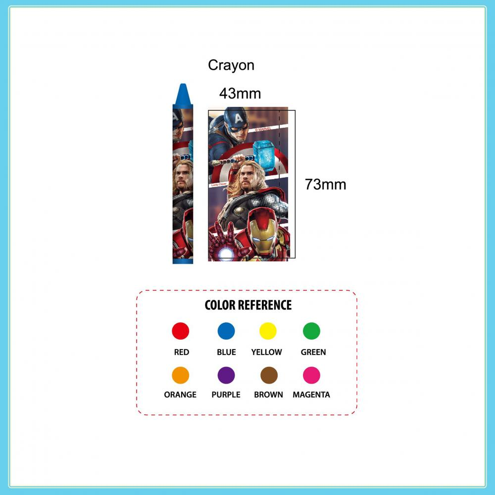 Marvel Avengers 8 Blister Card Crayons 2
