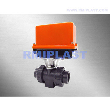 PVC Electric Ball Valve 24VDC