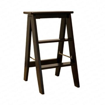 Household Multi Function Folding Ladder Stool Solid Wood Ladder Ascending Platform Step Stool Dual Purpose Rack Stair Chair