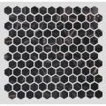 Black Gold Powder Pattern Hotel Glass Mosaic Tiles