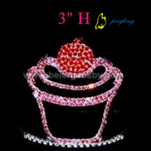 3 Inch fashion cupcake tiaras crowns for sale
