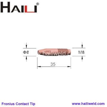 Fronius Contact Tips M8x35mm 1.2mm for AL3000 AW4000