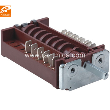 7 position oven rotary switch t150 RT345-2 brown