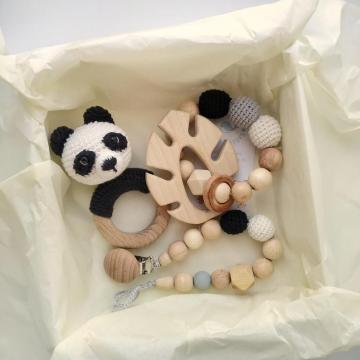 New Trend Panda Crochet Animal Rattle