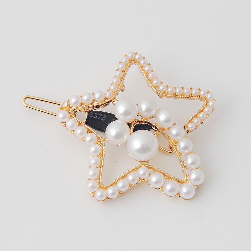Ladies metallic pearl hair pin headpiece (6)