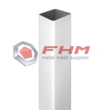 Galvanized Square Post for Fence with White Color