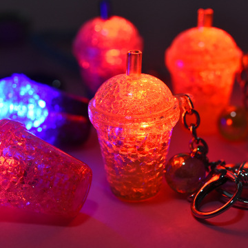 Hot Cup Glitter Keychains