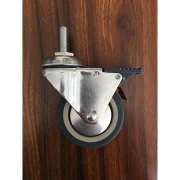 3 inch thread stem caster with brake