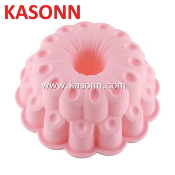 Molde grande do bolo da manteiga do silicone de bundt