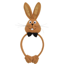 3D brown bunny shape headband decorations