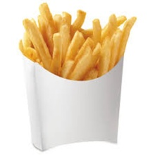 Kraft Paper French Fries Boxes Oil Proof Chips