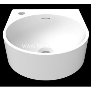 Modern solid surface wall hung basin