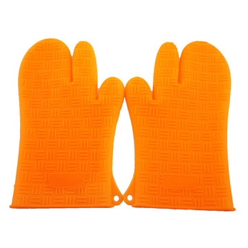 silicone grill mitts Hand heat gloves