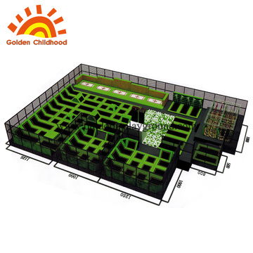 Indoor Large square Trampolines With Foam