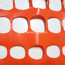 construction site orange barrier safety fence netting