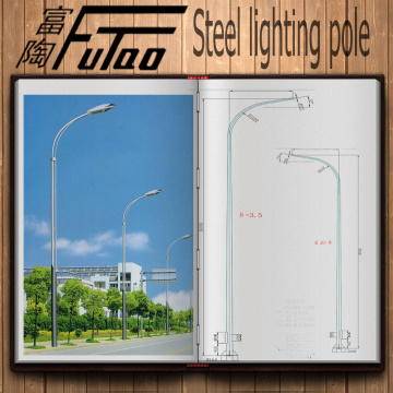 6M parking lot light pole