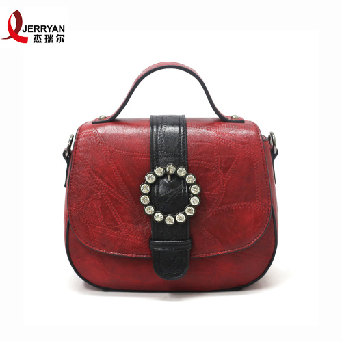 Red and Black Clutch Tote Crossbody Bag