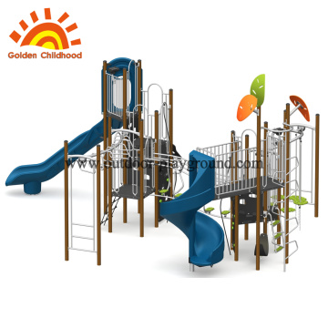 Outdoor HPL Physical playground tower customized
