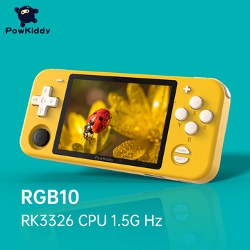 POWKIDDY RGB10 Open Source System Handheld Game Console RK3326 Chip 3.5-Inch IPS HD Screen 3D Rocker Retro Game Children's Gift