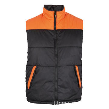 Nero con Body Warmer arancione