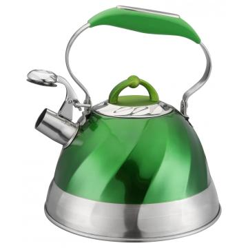 Painting Green Stainless Steel Whistling Kettle
