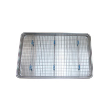 Aluminum Bun Pan with Stainless Rack