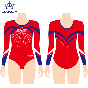 Customized full sleeve gymnastic leotard