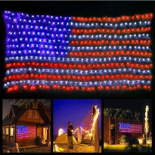 Led Flag Net Lights des États-Unis