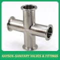 ISO/IDF Sanitary clamped cross pipe fittings