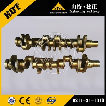 Genuine quality Komatsu PC200-8 crankshaft 6754-01-1310