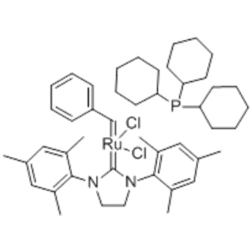 Ruthenium,[1,3-bis(2,4,6-trimethylphenyl)-2-imidazolidinylidene]dichloro(phenylmethylene)(tricyclohexylphosphine)-,( 57251693,SP-5-41)- CAS 246047-72-3